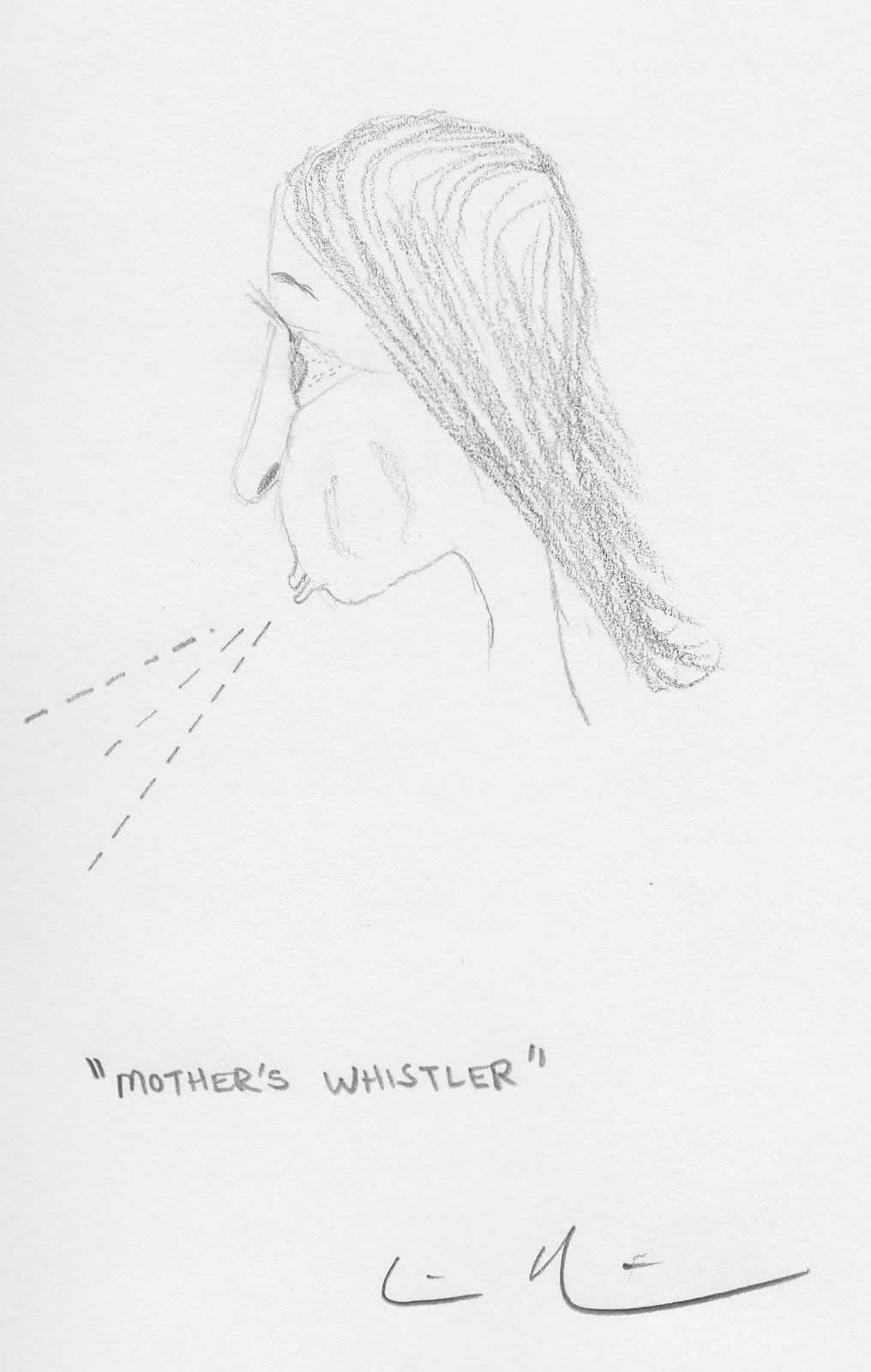 Mother's Whistler Drawing